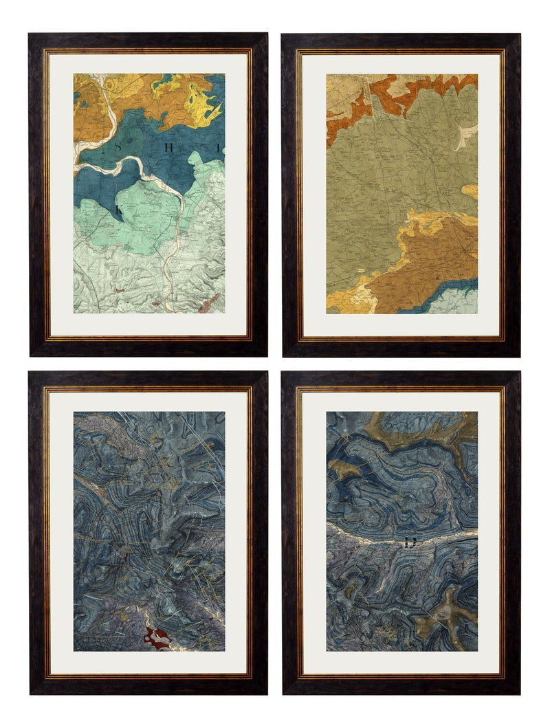 Framed British Geology Maps - Referenced From Sections of an Antique Geology AtlasVintage FrogPictures & Prints