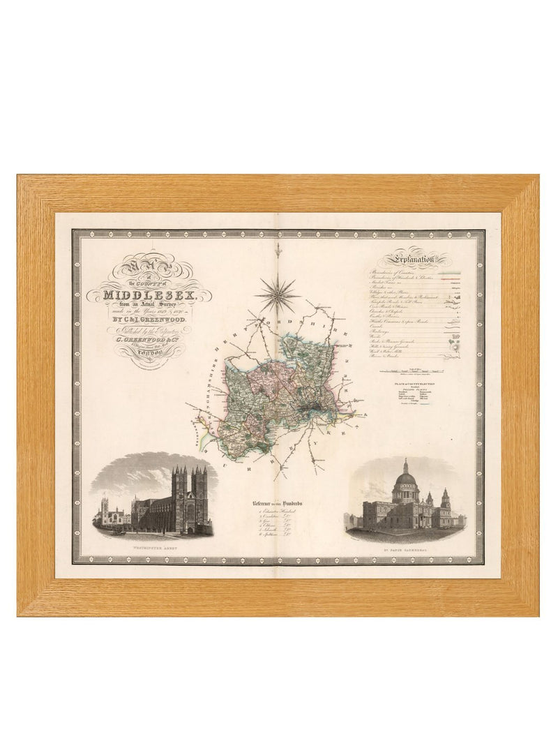 Framed County Maps of England Prints - Referenced From an Original 1800s MapVintage FrogPictures & Prints