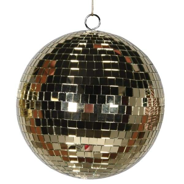 Gold Disco Ball Christmas Tree Hanging BaubleVintage FrogChristmas Bauble