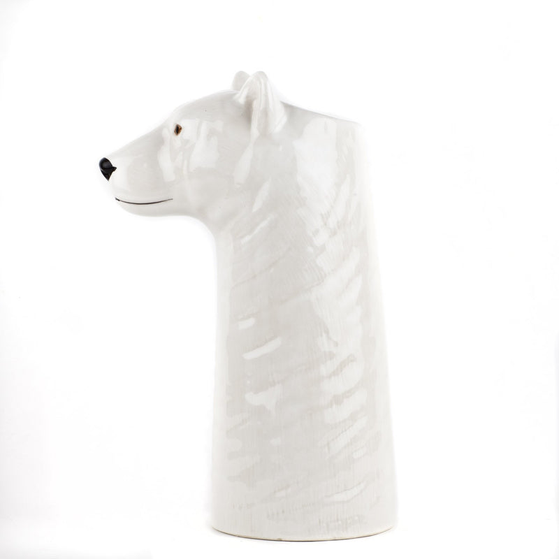 Hand-Painted Polar Bear Figure Large Flower VaseQuail CeramicsVase