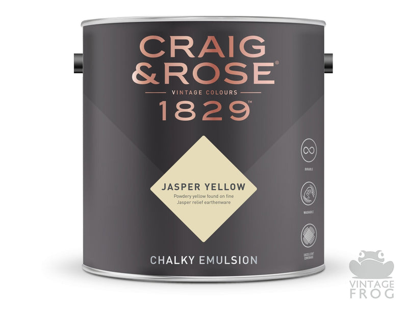 Jasper Yellow, Craig & Rose Paint, 1829 Vintage CollectionCraig & RosePaint