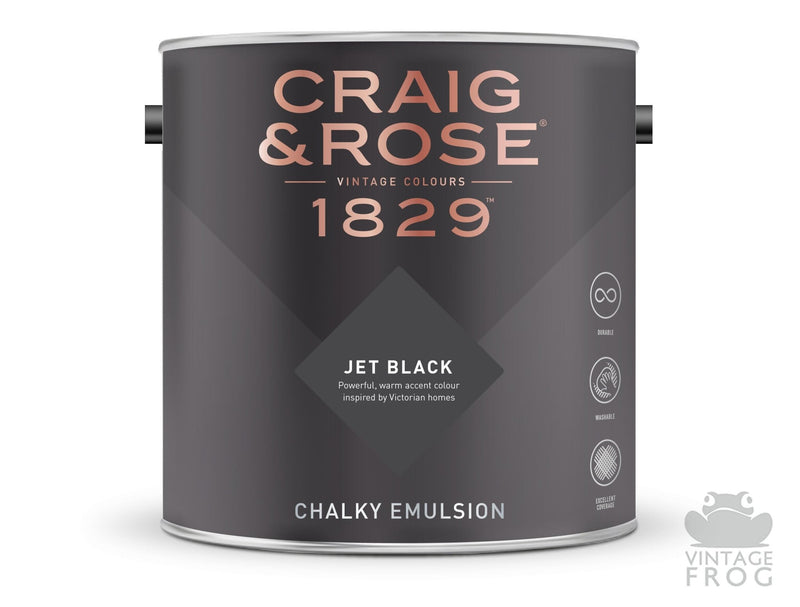 Jet Black, Craig & Rose Paint, 1829 Vintage CollectionCraig & RosePaint