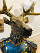 Large Gentry Stag Bust on Square Base, Deer OrnamentVintage FrogBrand New