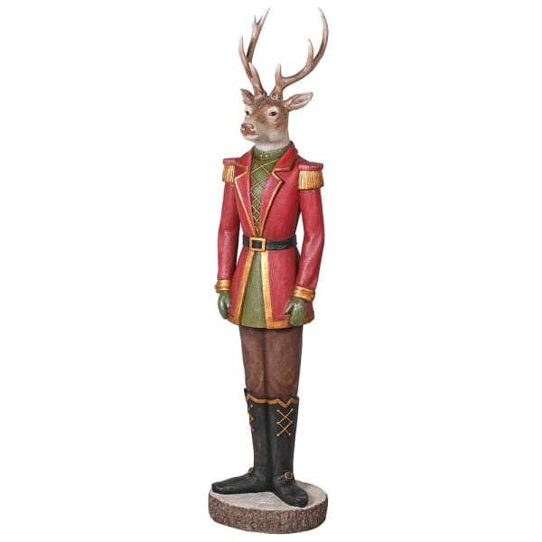 Large Standing Dressed Deer FigureVintage FrogChristmas Decor