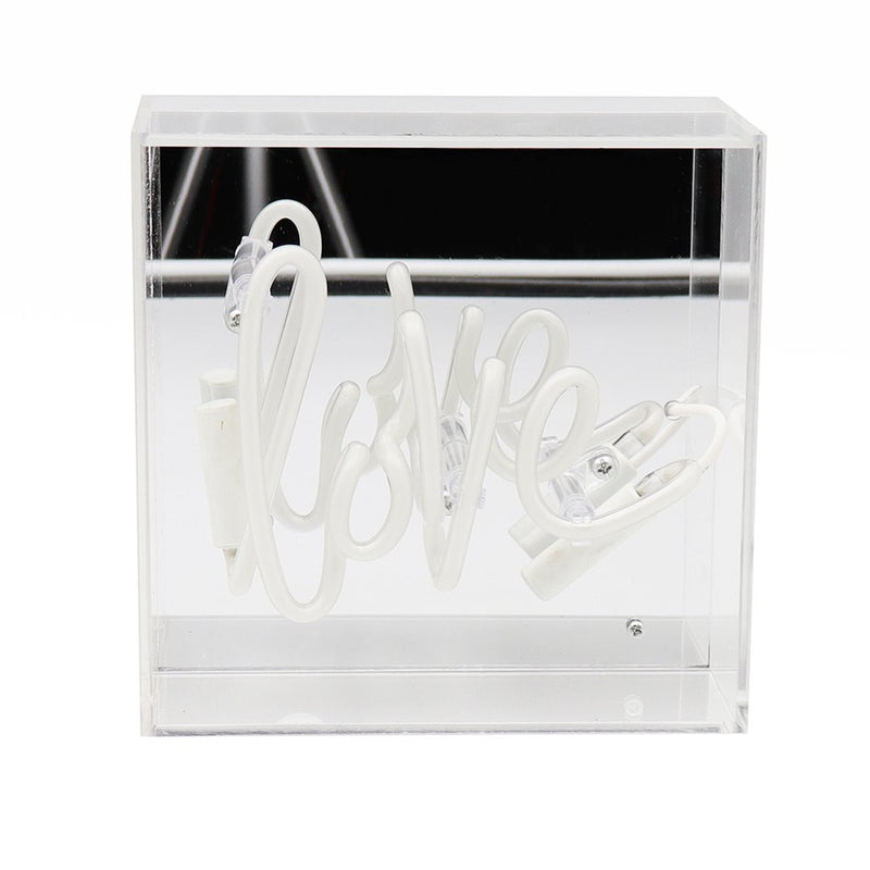 Mini Neon 'Love' Sign Housed In Acrylic Box - Neon LightVintage FrogLighting