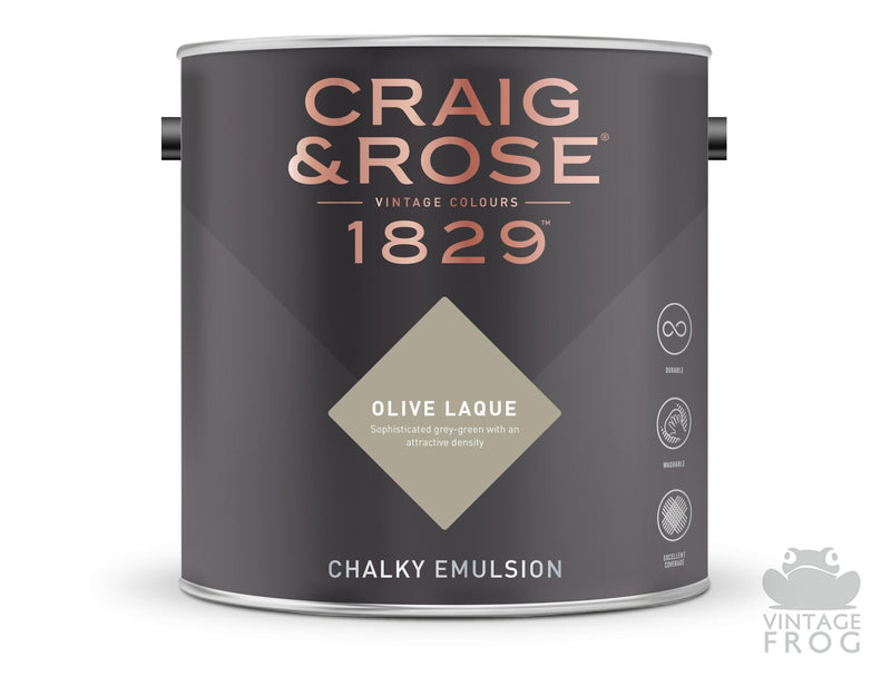 Olive Laque, Craig & Rose Paint, 1829 Vintage CollectionCraig & RosePaint