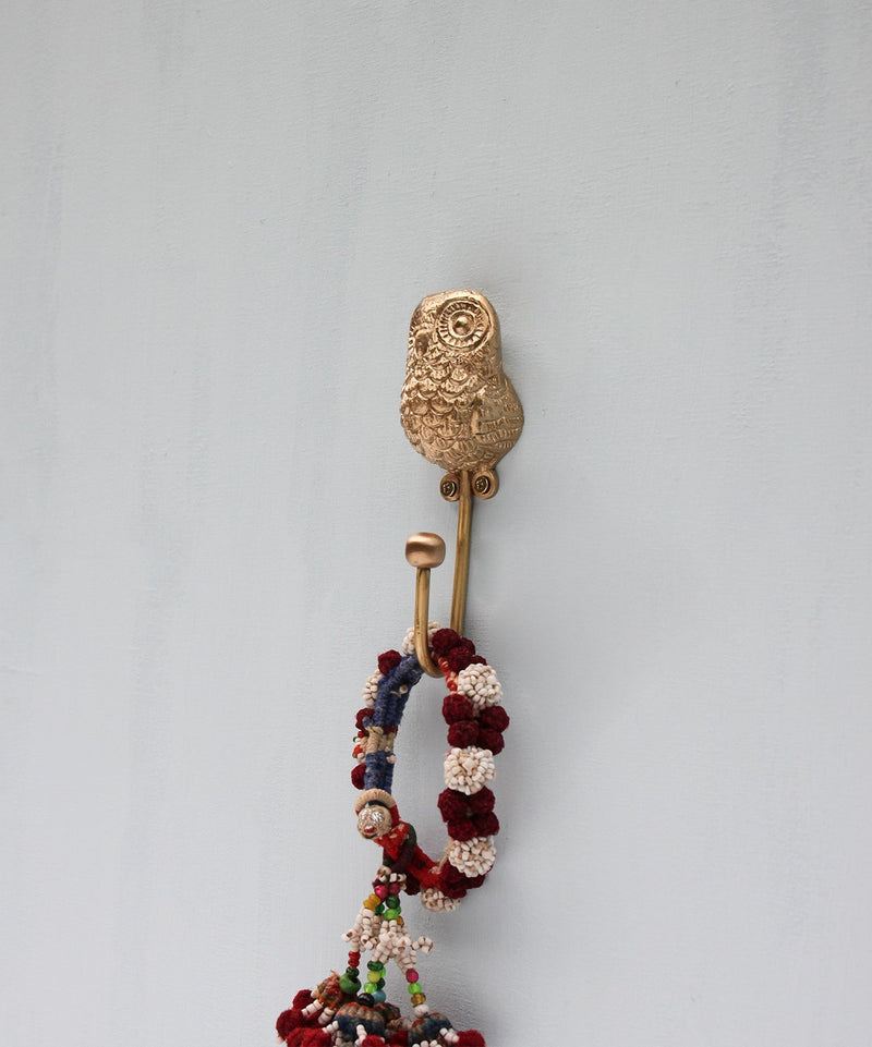 Owl Hook, Wall Mounted Brass Coat Hook DecorDoing GoodsHooks