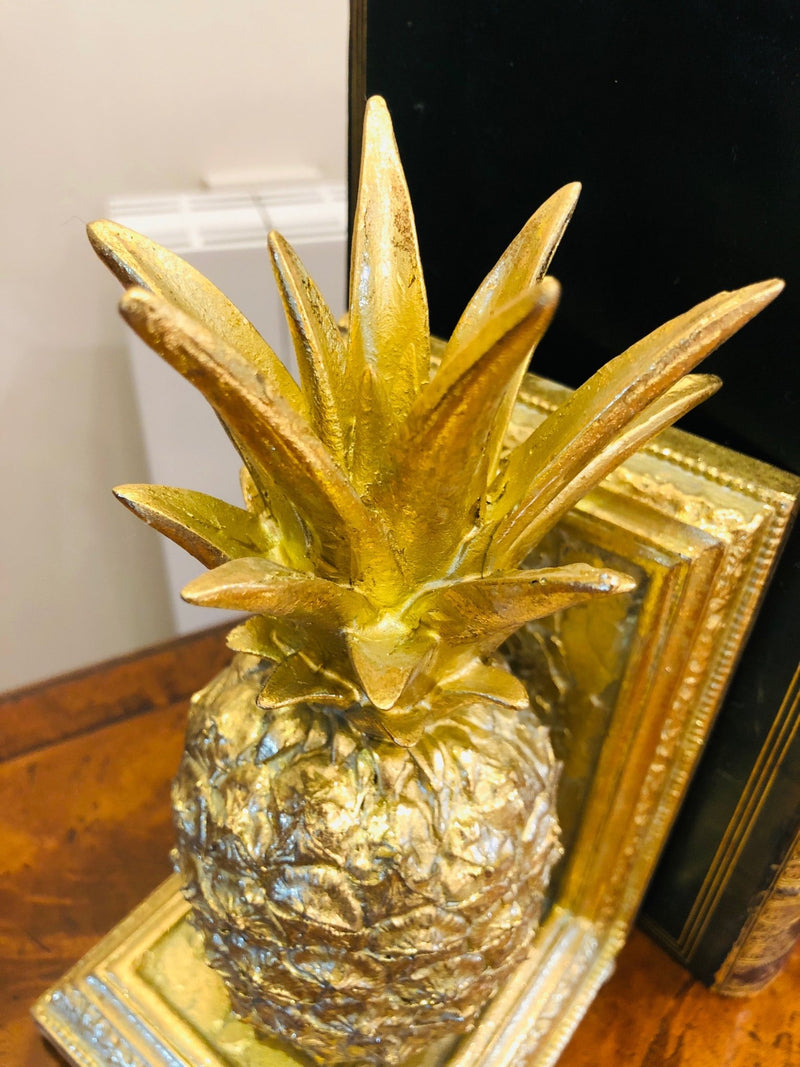 Pair of Gold Pineapple BookendsVintage FrogBrand New