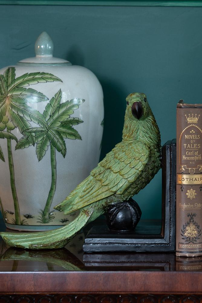 Pair of Green Parrot BookendsVintage FrogBrand New