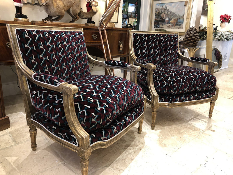 Pair of Louis XVI Style ArmchairsVintage FrogVintage Item