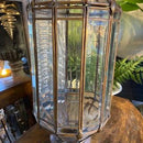 Pair of Vintage Beveled Glass Lanterns With Brass FramesVintage FrogVintage Item