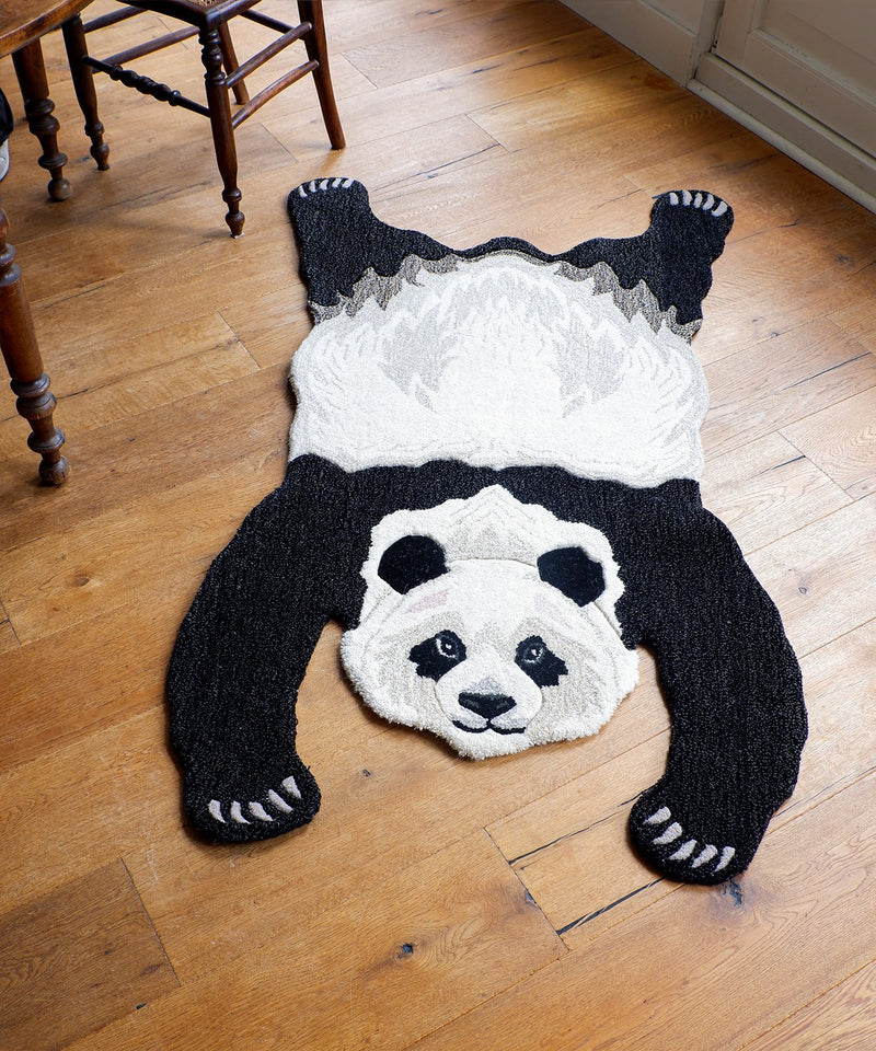Panda Rug, Hand Made Animal Kingdom Sheep Wool Floor CoveringDoing GoodsRug