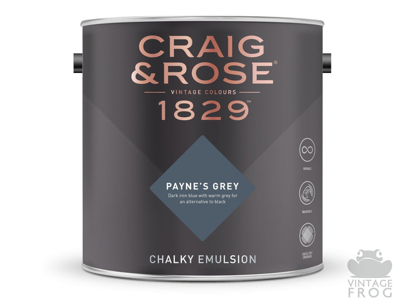 Payne's Grey, Craig & Rose Paint, 1829 Vintage CollectionCraig & RosePaint