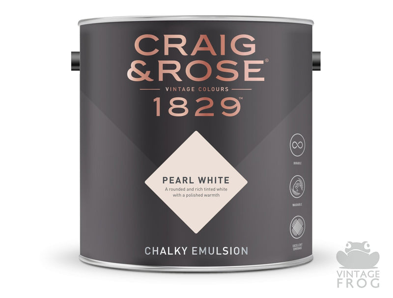 Pearl White, Craig & Rose Paint, 1829 Vintage CollectionCraig & RosePaint