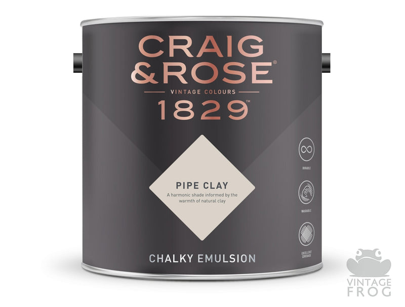 Pipe Clay, Craig & Rose Paint, 1829 Vintage CollectionCraig & RosePaint