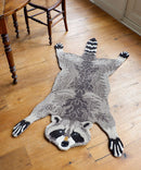 Racoon Rug, Hand Made Animal Kingdom Sheep Wool Floor CoveringDoing GoodsRug