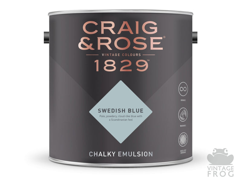 Swedish Blue, Craig & Rose Paint, 1829 Vintage CollectionCraig & RosePaint