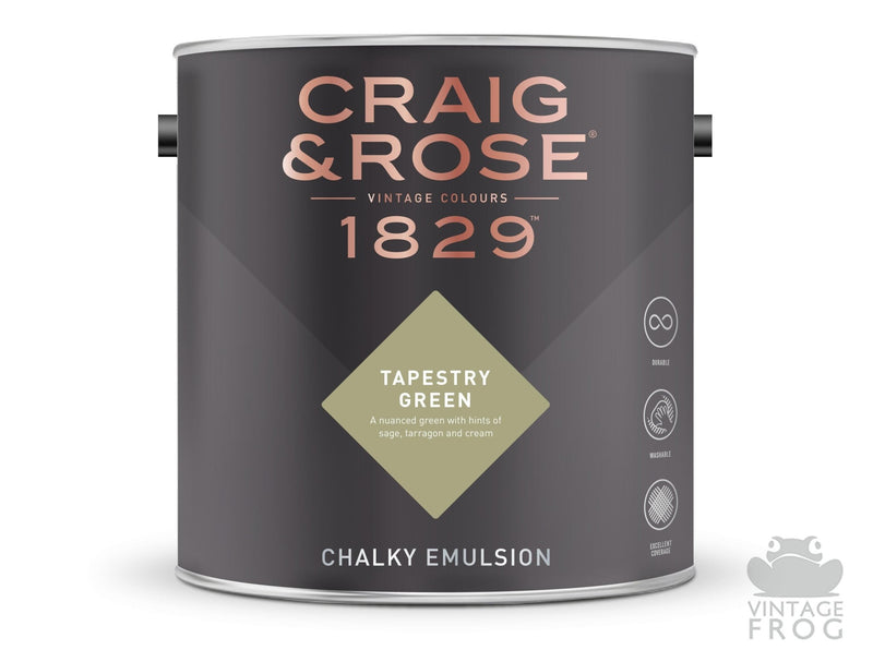 Tapestry Green, Craig & Rose Paint, 1829 Vintage CollectionCraig & RosePaint