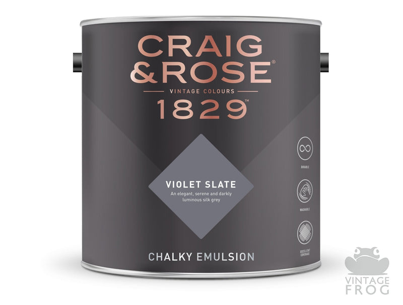 Violet Slate, Craig & Rose Paint, 1829 Vintage CollectionCraig & RosePaint
