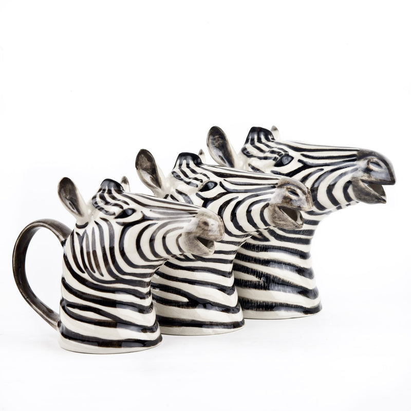 Zebra Jug, Ceramic Milk Jug, Water PitcherQuail CeramicsVase