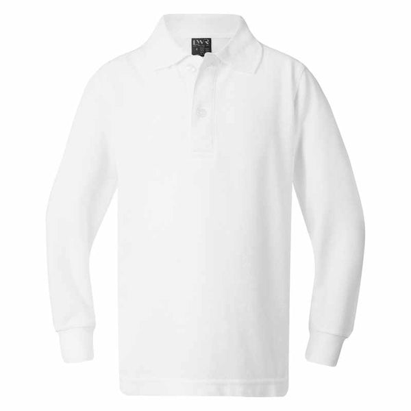 Plain White Long Sleeve Polo (No School Badge) FOR UNDER GIRL'S WINTER TUNIC