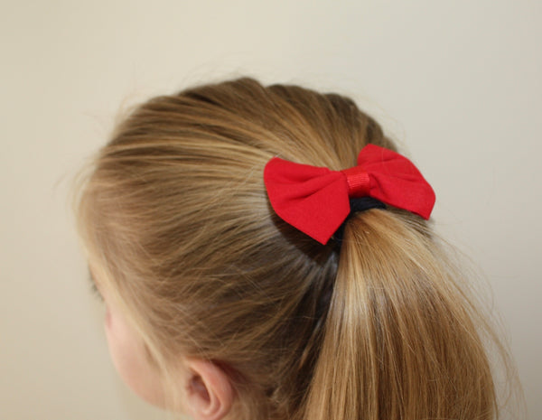 Sports Hair Bows - Elastics (Pack of Two)