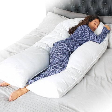 Need a little bit of extra support at night or while lying on the sofa? Want to feel like you're being hugged all over? Our Lovely Cuddle Pillow is here for you.   The cuddle pillow surrounds you to keep you cozy and warm, while also being comfortable. It's just like getting a big hug from your favourite person.