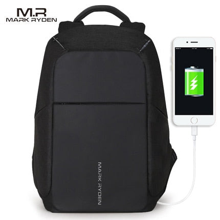 Anti-theft USB Charging Backpac