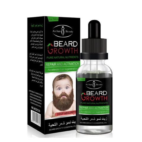 This oil is enriched with multiple natural nourishing ingredients that infiltrate into the hair follicle roots, repair & activate the dormant hair follicles, increase nutrient absorption and accelerate hairgrowth. Applicability: Beards, armpit hair, chest hair, pubic hair and the areas required for hair growth.  Ingredients:  Zingiber Officinale Root Oik,Juniperus Virginiana Oil,Rosmarinus Officinalis Leaf Oil,vitam- in E, Citrus Paradisi Seed Oil.