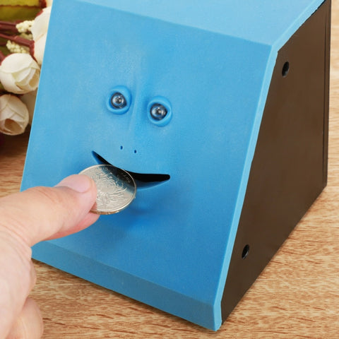 "Banki Face is the ultimate money banking buddy on the market.  Make saving money fun and feed this little fella your spare change. You know what they say,  ""Watch the pennies and the dollars will take care of themselves""   Makes for a great gift for all young children or your poor-budgeting friends."