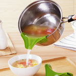 This Anti-Spill Soup Funnel can make you enjoy cooking easily. With this funnel can make you fastly and precisely pour away the water, soup or other liquid for less waste This funnel will attach snugly to most pots, bowls, or pans for easy, no fuss straining, quick and easy. The pour spout helps to pour the liquid, soup, oil from bowls, pans, pots to prevent messy spills. Best colander set for your kitchen.