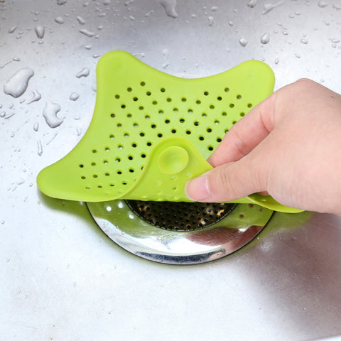 Effectively catches hair without blocking water drainage. Prevents clogged drains,catch hair or small stuff. Fits sink, shower or tub drains. Easy to clean. Size: 4 Inch (Approx) Material: Silicone Effectively catches hair without blocking water drainage. Easy to clean. Fits sink, shower or tub drains. Suction cups hold cover in place.