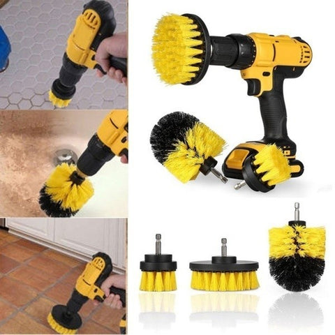 The Drill Brush Set will do all the heavy duty cleaning you'll need.  This set attaches to any standard drill and it will really dig in deep for cleaning.  It's a genious invention that makes it easy to really scrub something down.
