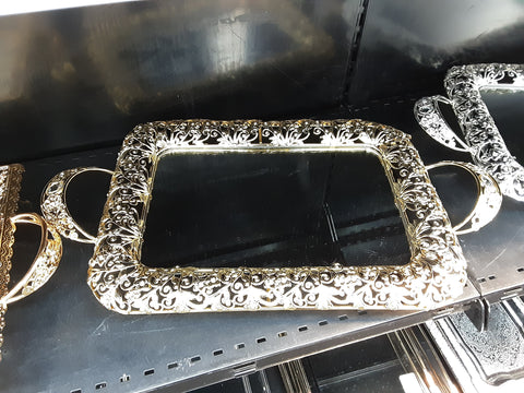Glass and Metal Tray ML