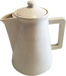MODERN HAND MADE CREAM CERAMIC TEA POT 700 ML