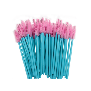 Pink/Turquoise nylon disposable mascara wands - Lana Beauty Academy