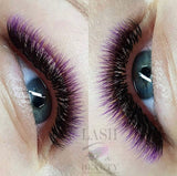 PURPLE/BLACK OMBRÉ COLOR .07mm MIX Tray - Lana Beauty Academy