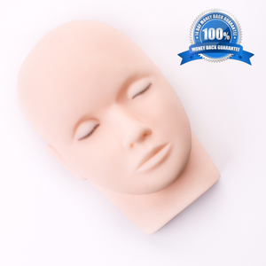 White Mannequin Head with Realistic Lashes