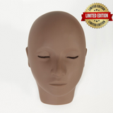 Brown Mannequin Head with Realistic Lashes