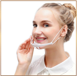 Anti-fog plastic mouth mask