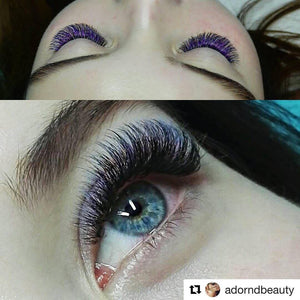 PURPLE/BLUE OMBRÉ COLOR .07mm MIX Tray - Lana Beauty Academy