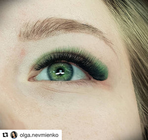 GREEN/BLACK OMBRÉ COLOR .07mm MIX Tray - Lana Beauty Academy
