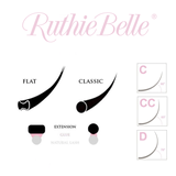 0.15 Flat Matte Lashes by Ruthie Belle - Lana Beauty Academy