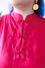 Load image into Gallery viewer, Red Mandarin Collar Dress