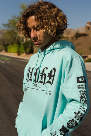 "YOUTH  ""Represent"" Hoodie Mint"