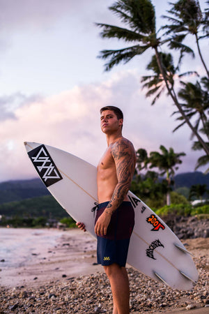"""Splice Of Aloha"" Board Shorts"