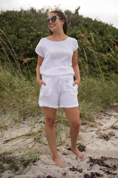 Greece Linen Shorts