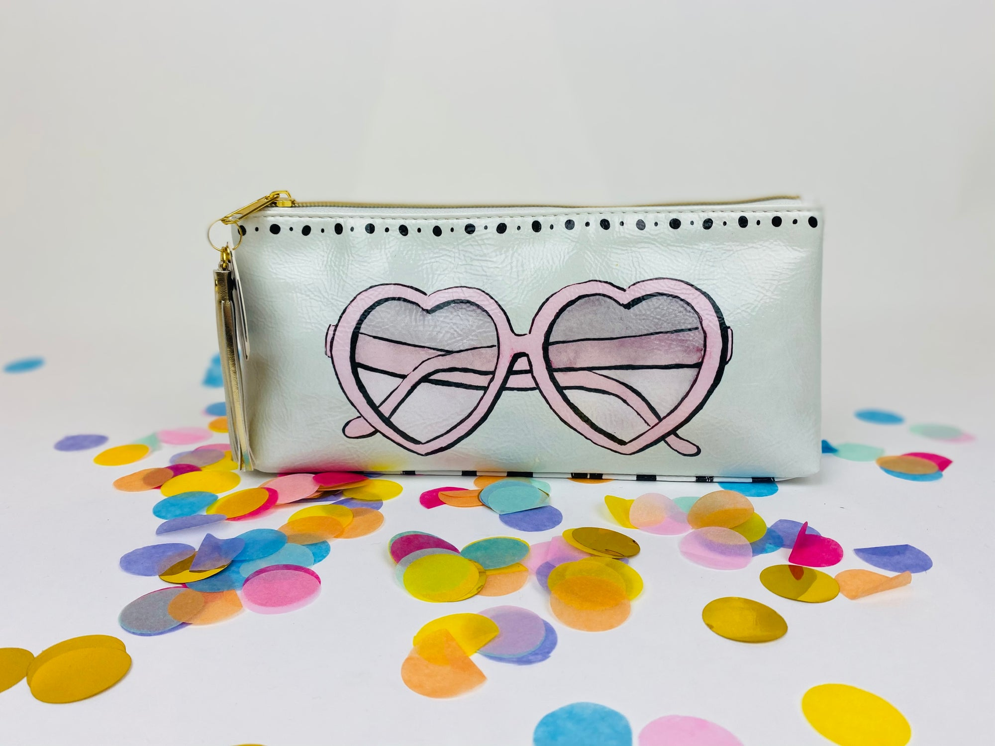 Super fun oil cloth make-up toiletry bags