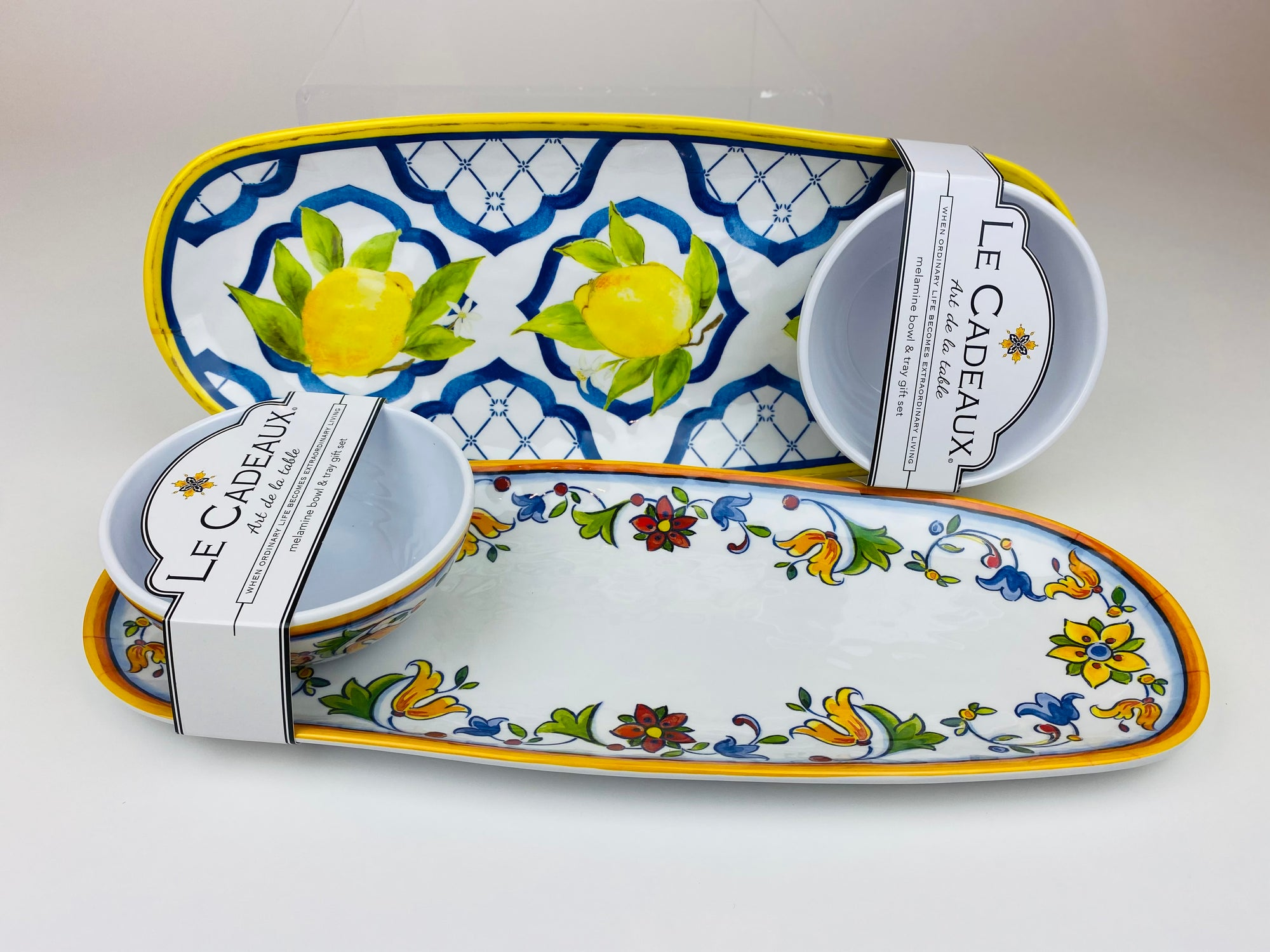 Le Cadeux Tray/ Bowl Set