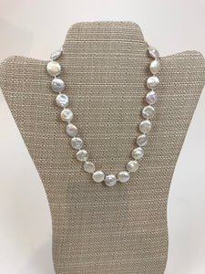 "Coin pearl 18"" necklace"